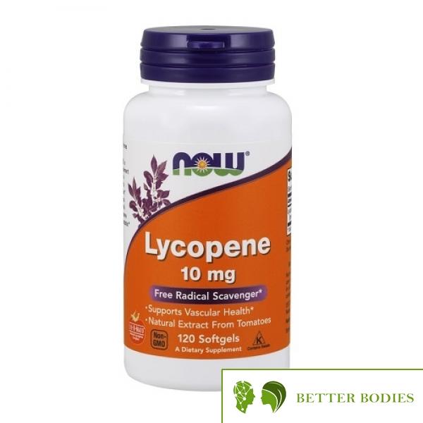 NOW Lycopene 10mg, 120 гел капсули