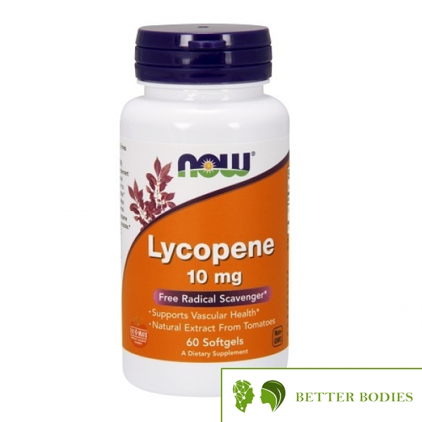 NOW Lycopene 10mg, 60 гел капсули
