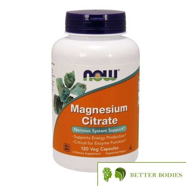 NOW Magnesium Citrate 400mg, 120 капсули