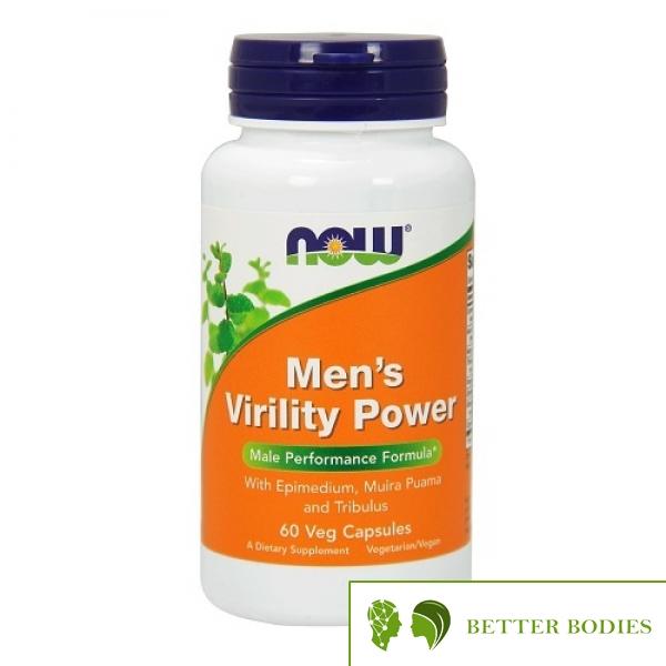 NOW Men`s Virility Power, 60 капсули