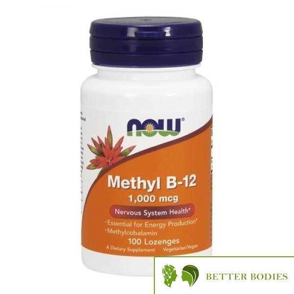 NOW Methyl B-12 1000mcg, 100 дражета