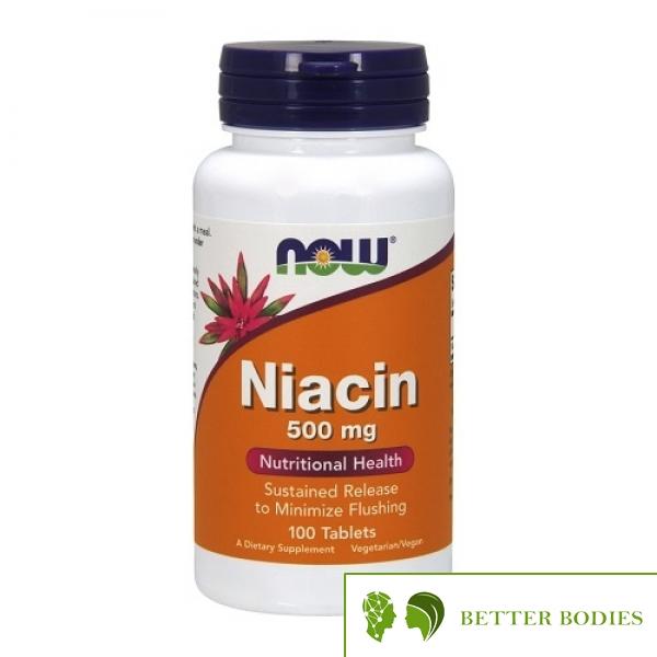 NOW Niacin 500mg, 100 таблетки