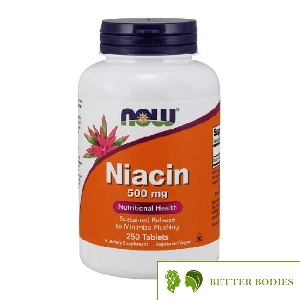 NOW Niacin 500mg, 250 таблетки