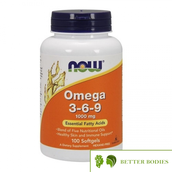 NOW Omega 3-6-9 1000mg, 100 гел капсули