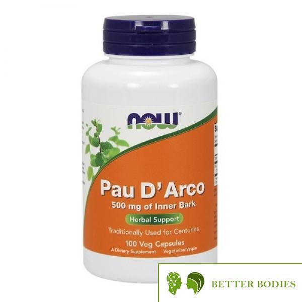 NOW Pau D`Arco 500mg, 100 капсули
