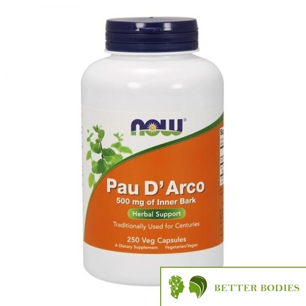 NOW Pau D`Arco 500mg, 250 капсули