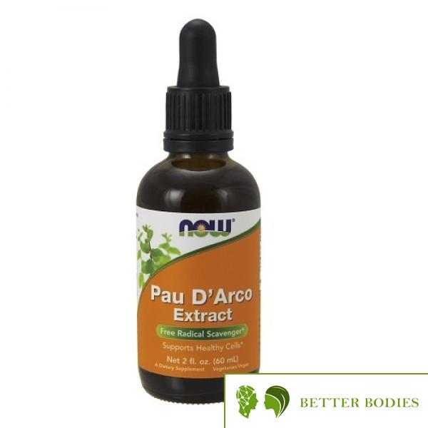 NOW Pau D`Arco Extract Liquid, 60 мл