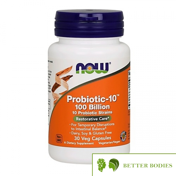 NOW Probiotic-10 100 Billion, 30 капсули