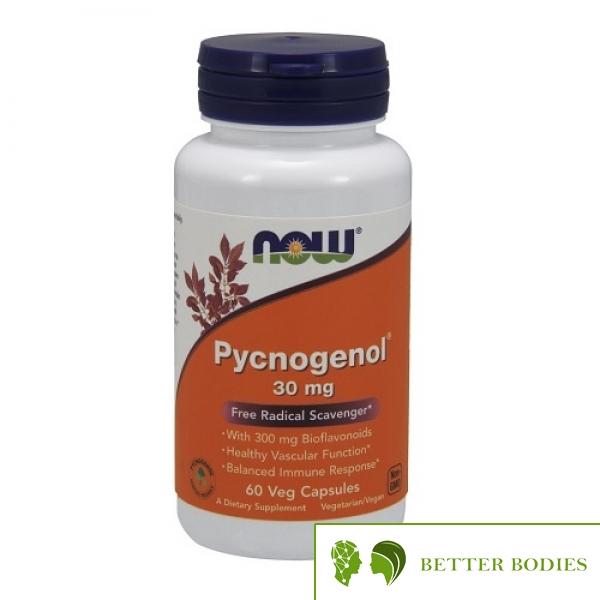NOW Pycnogenol  30mg, 60 капсули