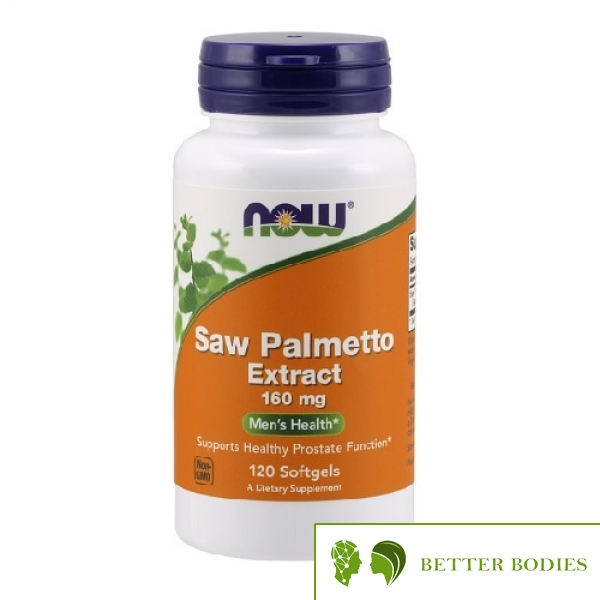 NOW Saw Palmetto Extract 160mg, 120 гел капсули