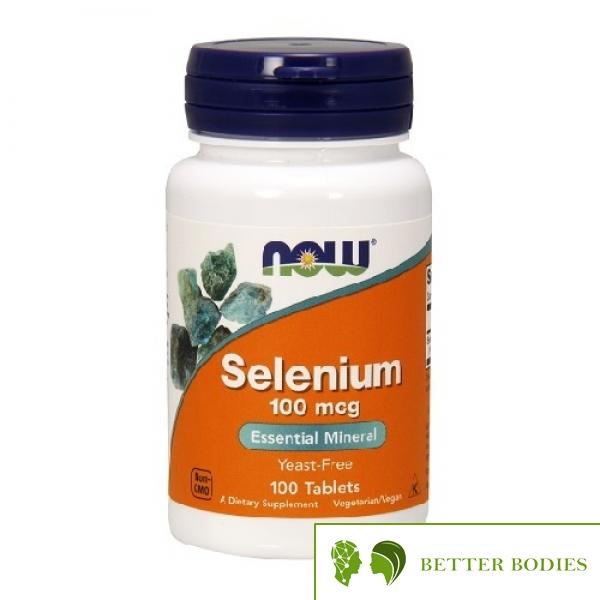 NOW Selenium 100mcg, 250 таблетки