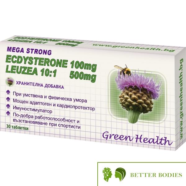 Green Health Ecdysterone 100mg + Leuzea10:1 500mg, 30 таблетки