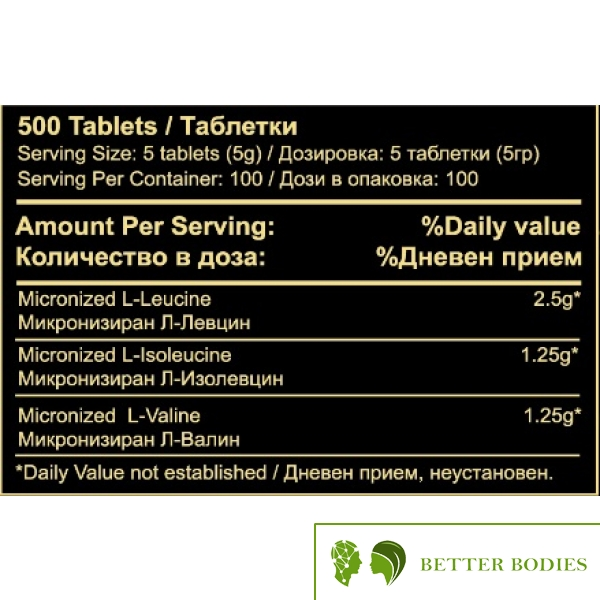 Athlete`s Nutrition BCAA 1000 mg,  500 таблетки