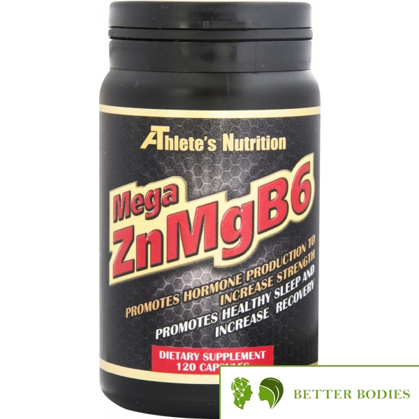 Athlete`s Nutrition Mega ZnMgB6, 120 капсули