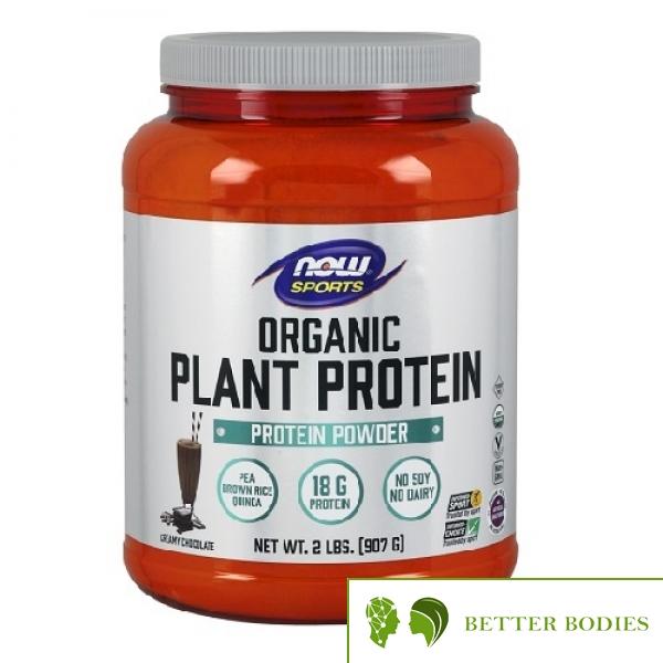 NOW Plant Protein Organic, 907 грама
